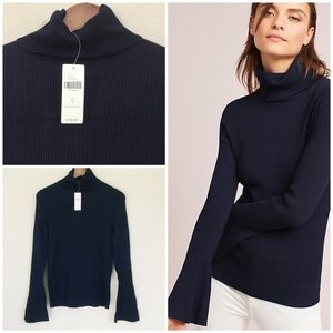 Anthropologie Moth Bell Sleeve Turtleneck. Small
